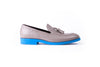 Men's Grey & Blue Tassel Loafer with Blue Sole ( EX-151)