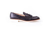 Men's Black & Tan Accented Tassel Loafer with White Sole (EX-152)