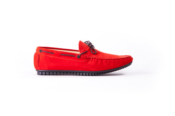 Men's Red Suede Driver Mocassin (EX-187)