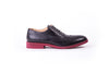 Men's Black & Red Sole Brogue Wingtip
