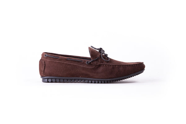 2017 Men's Coffee Brown Suede Driver Mocassin