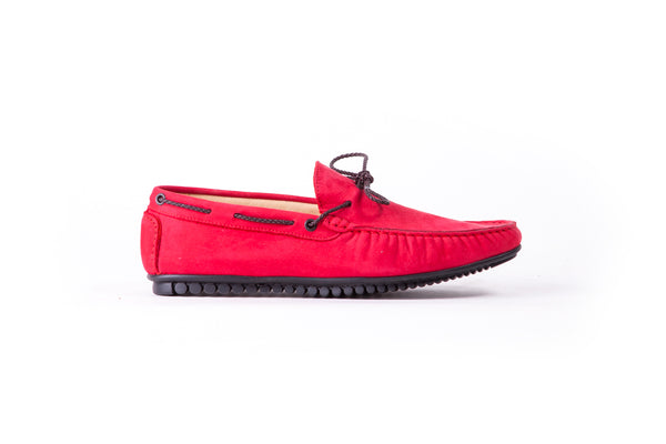 Men's Red Suede Driver Mocassin (EX-207)