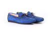 Men's Dark Navy Blue Sued Driver Mocassin (EX-208)