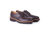 Women's Dark Brown & Tan Brogue Wingtip. Ex-350