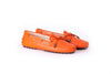 Women's Orange Driver Mocassin EX-326