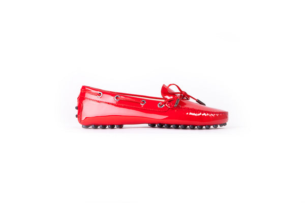 Women's Patent Red Driver Mocassin EX-329