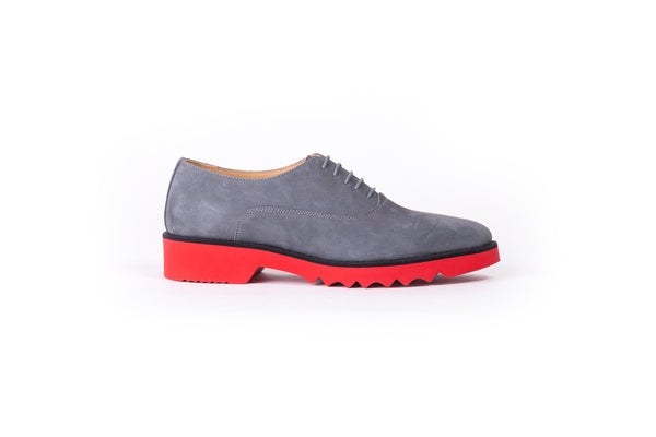 Women's Suede Grey & Red Lace Up -EX-304 (2017)