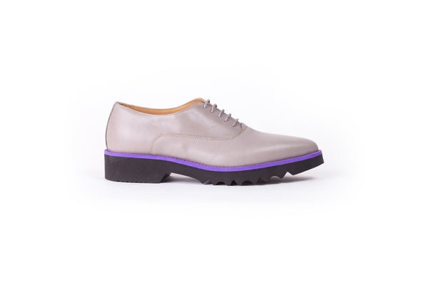 Women's Grey & Purple Accented with Black Sole Lace Up - EX - 306