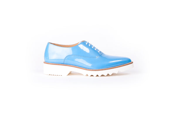 Women's Sky Blue Patent Lace Up EX-313 (2017)