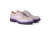 Women's Grey & Purple Brogue Wingtip. EX-336 (2017)