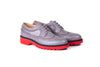 Women's Grey & Black with Red Sole Brogue Wingtip. EX- 338 (2017)
