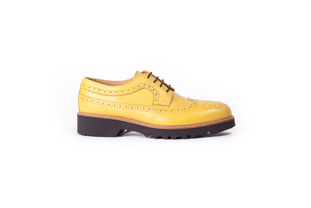 Women's Lemon & Tan Brogue Wingtip. EX-339 (2017)