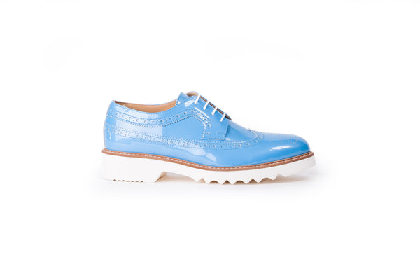 Women's Sky Blue & Tan Brogue Wingtip.343 (2017)