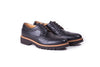 Women's Dark Blue & Tan with Brown Sole Brogue Wingtip. EX-344 (2017)