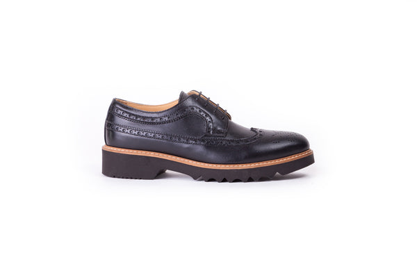 Women's Black leather Brogue Wingtip EX 353 (2017)