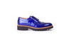 Women's Patent Ink Blue & Tan Brogue Wingtip. EX-345