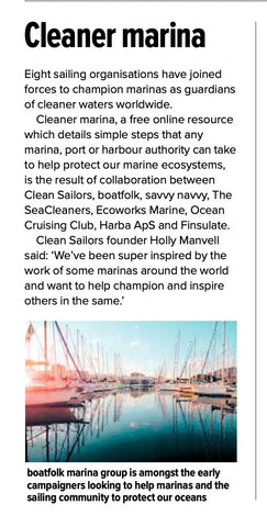 Cleaner Marina featured in Yachting Monthly