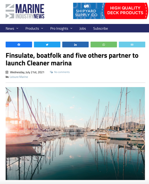 Cleaner marina featured by Marine Industry News