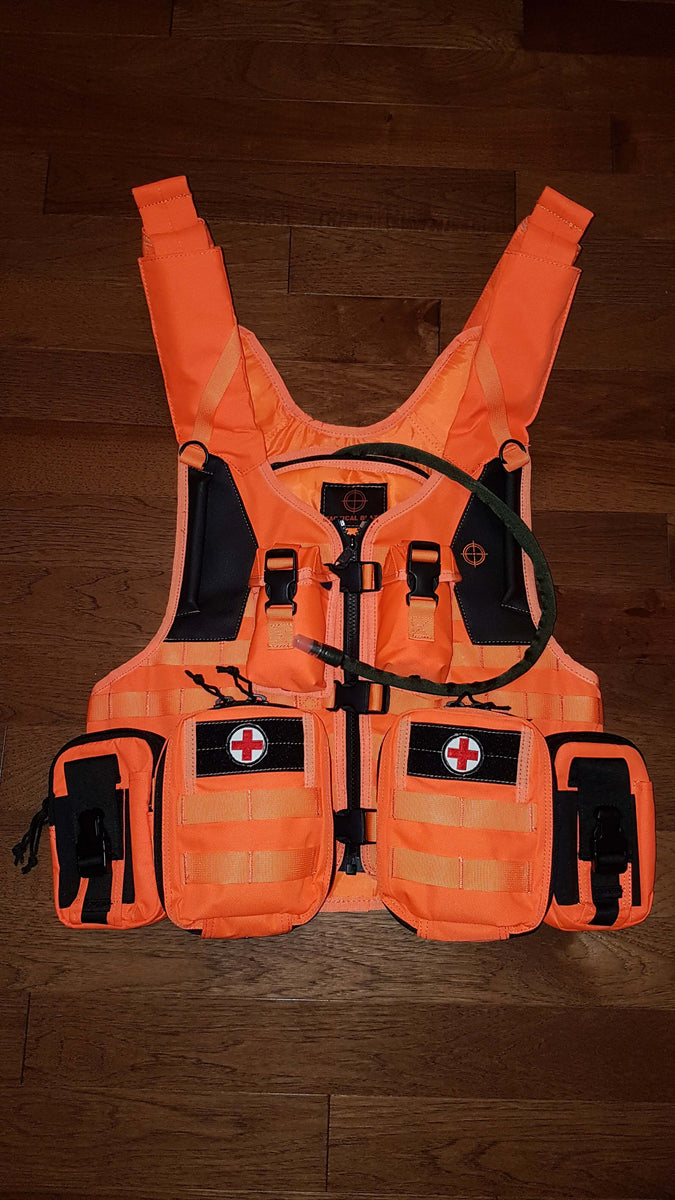 Tactical Blaze Orange Molle Search Amp Rescue Vest Canada