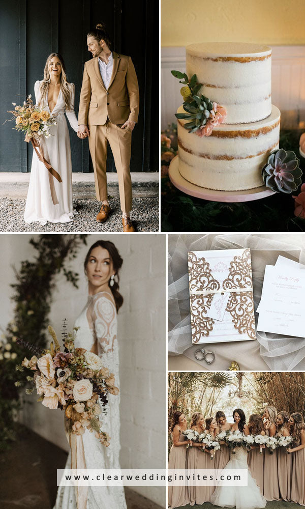 Neutrals works perfectly at an autumn wedding