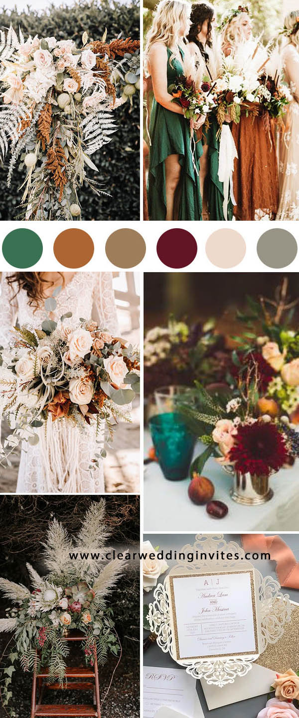 1. stunning orange and teal blue fall wedding color inspiration