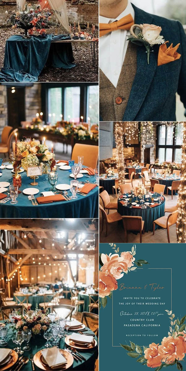 6 Must-have Fall Wedding Detail Ideas for Your Weddings