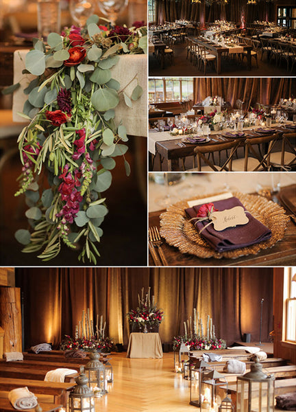 Taupe & Natural Greenery Wedding Ceremony