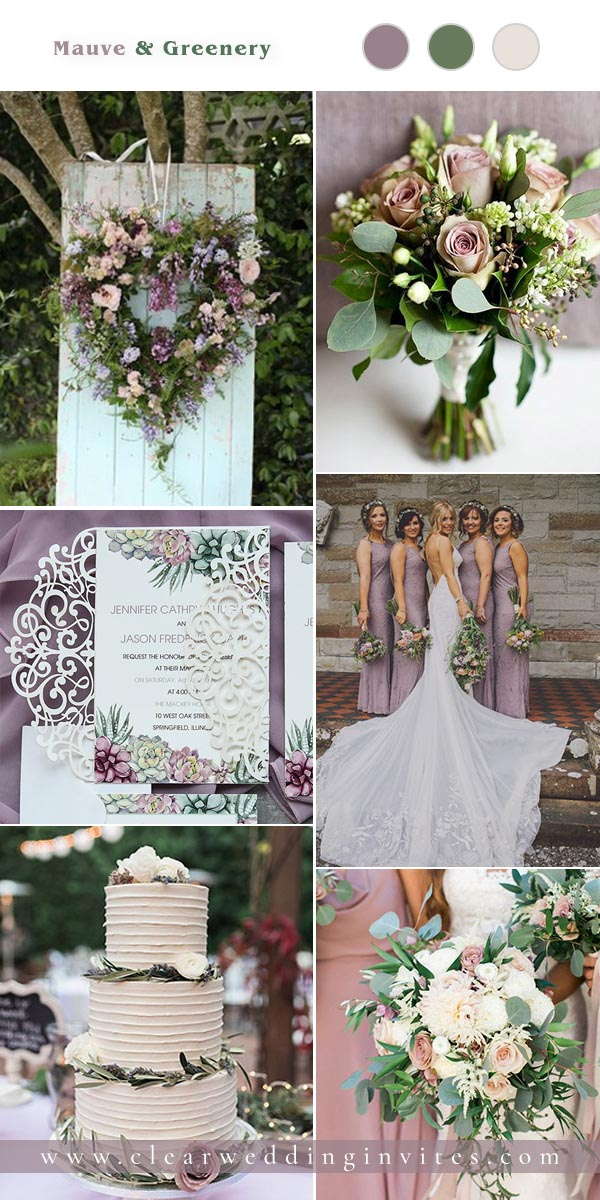 Mauve is my most favorite color in the purple family, it is a pale, gray toned version of violet and a warm  and soft color that is perfect for fall wedding season