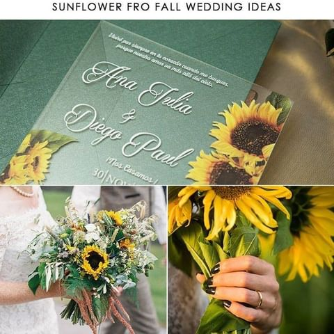 Beach Sunflower Wedding Ideas That are Bold, Fun and Cool