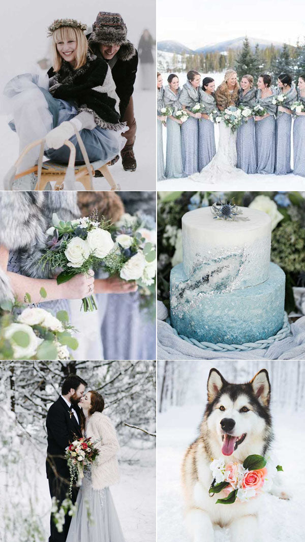 1.Breathtaking Snow covered Wedding Photography