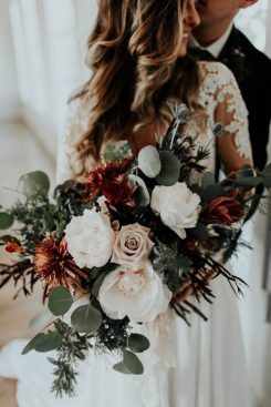 autumn has the prettiest color schemes for your big day with decorations and flowers