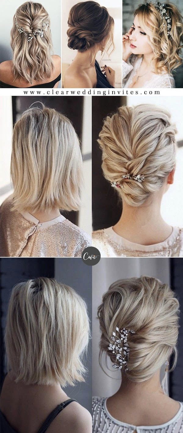 Medium Length Bridal Hairstyles & Wedding Accessories for 2021