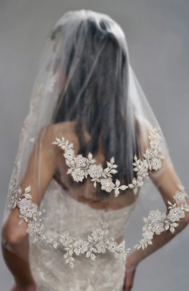 2-TIER Bridal Veils Romantic Bridal Veils for Your Perfect Wedding Hairstyles