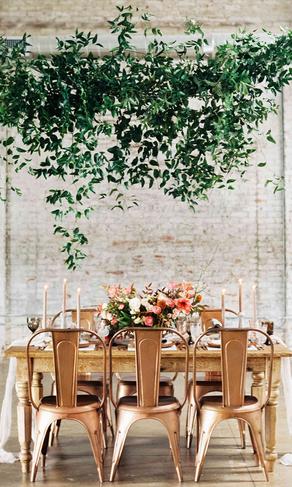 Tall and big floral greenery decoration Amazing Tented Wedding Decoration Ideas To Wow Your Guests