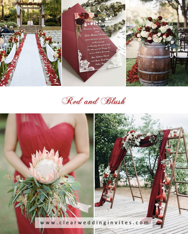 Red and Blush amazing Spring and Summer Wedding Colors