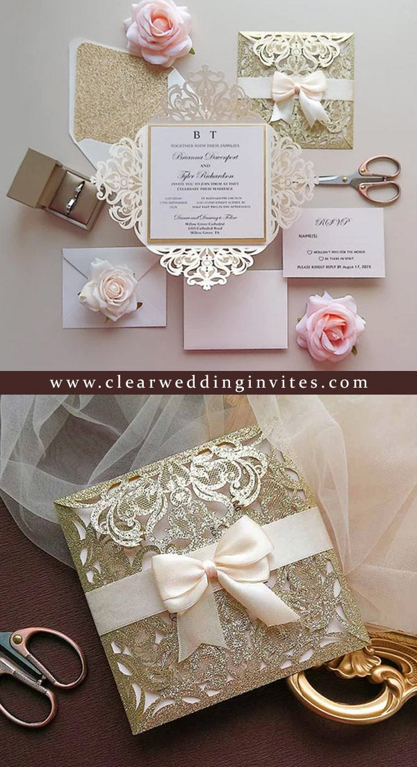 French Style Vintage Wedding Cards