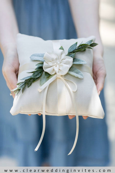 Give the ring bearer a simple stem to carry down the aisle