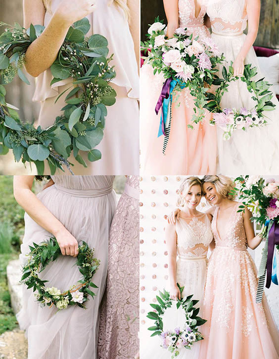 20 Rustic Hoops Bouquets for Wedding or Bridal Party