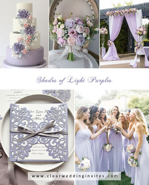 Shades of Light Purples amazing Spring and Summer Wedding Colors