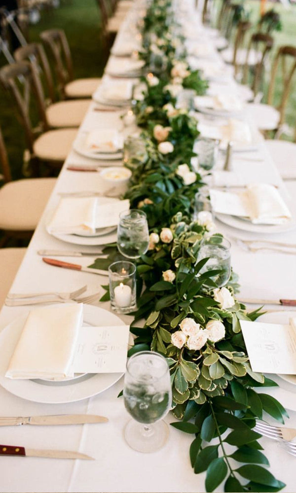 Green Garland Amazing Tented Wedding Decoration Ideas To Wow Your Guests