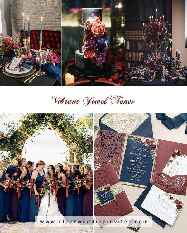 Vibrant Jewel Tones amazing Spring and Summer Wedding Colors