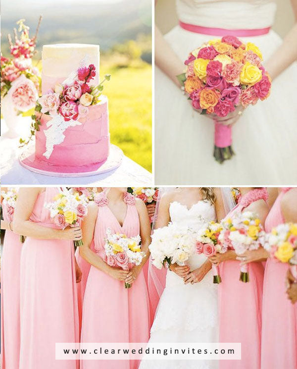Pink, Orange and Yellow amazing Spring and Summer Wedding Colors
