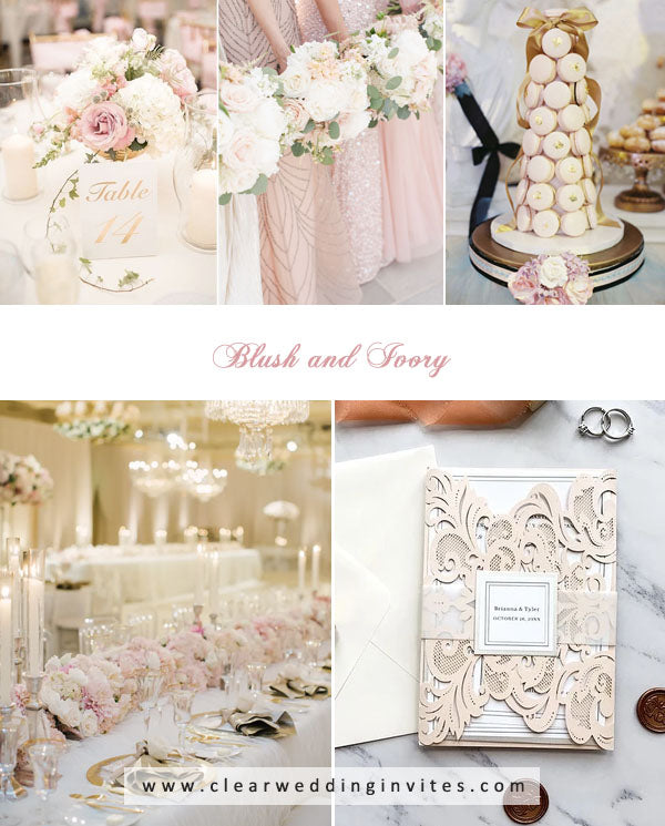 Blush and Ivory amazing Spring and Summer Wedding Colors