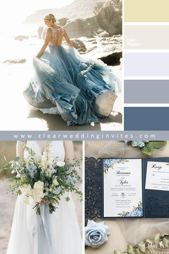 Blue Shades Ethereal Wedding Ideas to Make An Amazing Nuptial