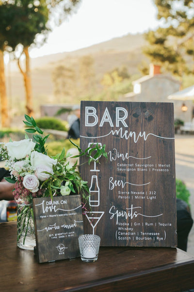 8 Rustic Budget-Friendly Country-style Wedding Signs