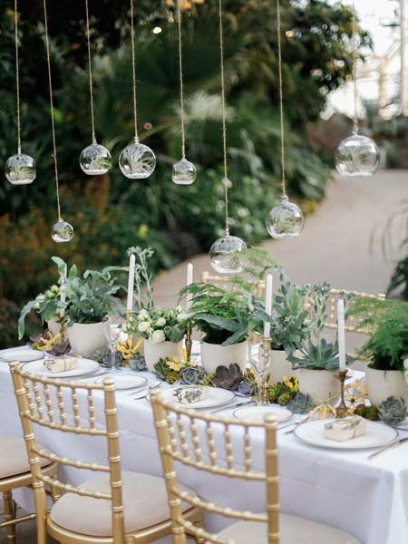 Greenery Wedding Table Setting Ideas romantic and elegant wedding with gorgeous green plants