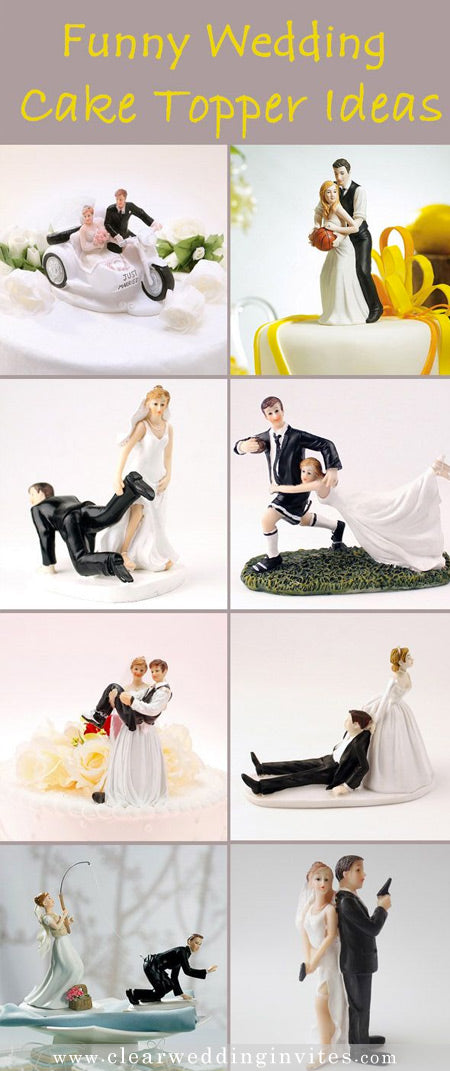 All Kinds of Funny Wedding Gifts and Cake Toppers