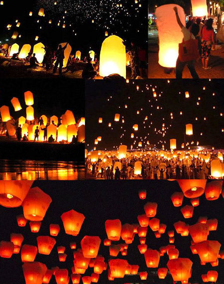Amazing Ways to Decorate Outdoor Weddings with Floating Lanterns