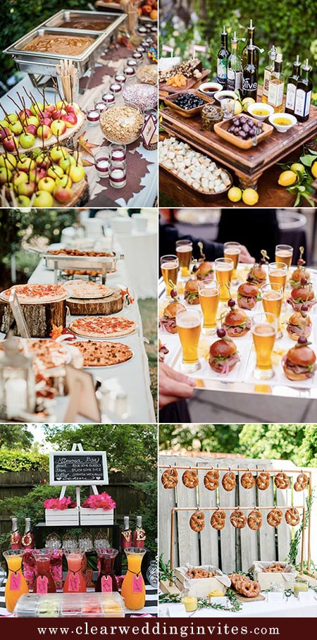 Rustic Wedding Food and Drink Bar Ideas for 2022 Brides