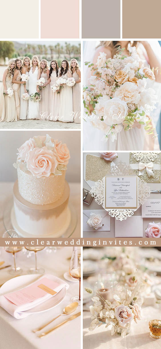 Trendy and Romantic Blush Pink Wedding Color Ideas